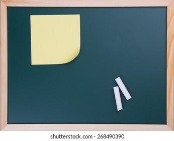 speech bubbles chalk set on blackboard