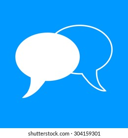 Speech bubbles icon. illustration