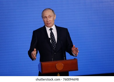 Speech by the President of the Russian Federation Vladimir Putin in the Primorsky Oceanarium as part of the Eastern Economic Forum in 2017 on the Russian Island in Vladivostok
