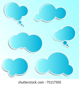 speech and thought cloud bubbles stickers