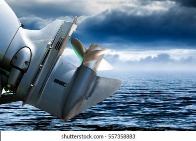 speed boat propeller background.