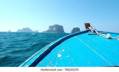 Speed boat as a transportation from land tu island