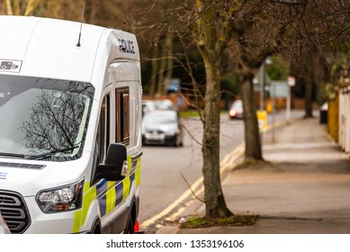 speed camera van on city road checking traffic speed in the UK