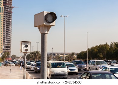 Speed cameras in the city of Kuwait, Middle East