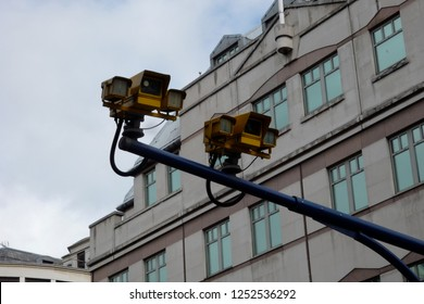 Speed cameras installed over a road to detect motoring offences