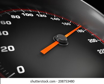 Speed gauge showing 180