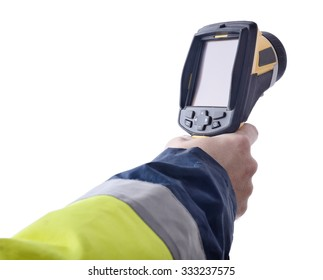 Speed gun isolated on a white background