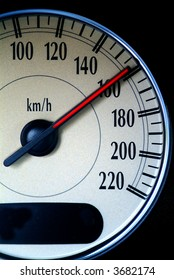a speed indicator to calculate speed of an car shows high speed
