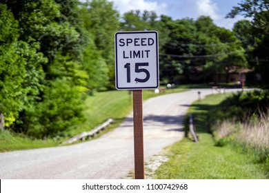 Speed Limit Road Sign 15 miles an hour