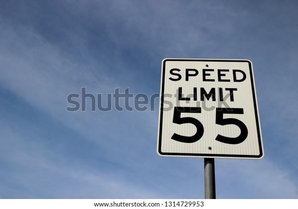 Speed limit treffic sign