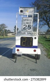 A speed meter machine in Central California