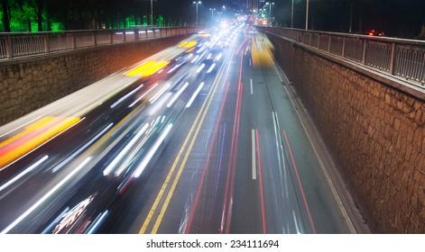 Speed motion at night