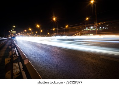 Speed motion,abstract background rays. A big road in Moscow.