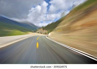 speed mountain road