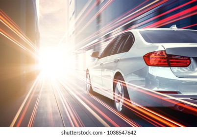 Speed race car with light effect