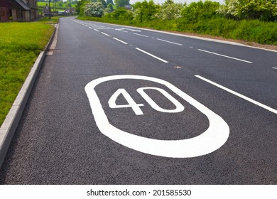 Speed sign on the road