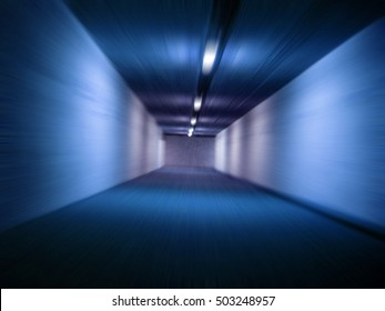 speed in the tunnel as nice abstract background