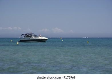 speedboat on the ocean - saint-tropez, french riviera