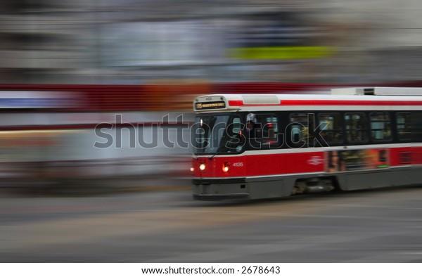 Speeding street car abstract