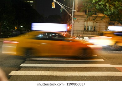 Speeding yellow cab