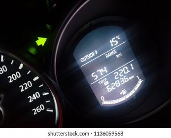 Close Photo Tachometer Modern Hybrid Car Stock Photo Edit Now