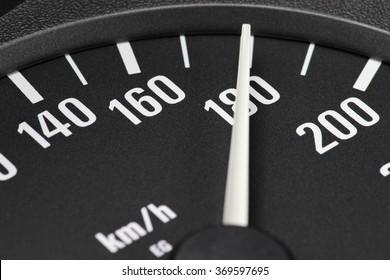 speedometer at 180 km/h