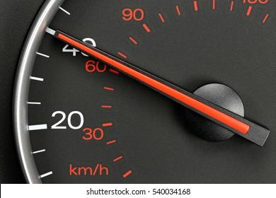 speedometer at 40 MPH