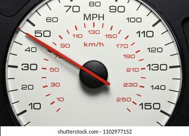 speedometer at 45 MPH
