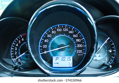 The Speedometer in Car