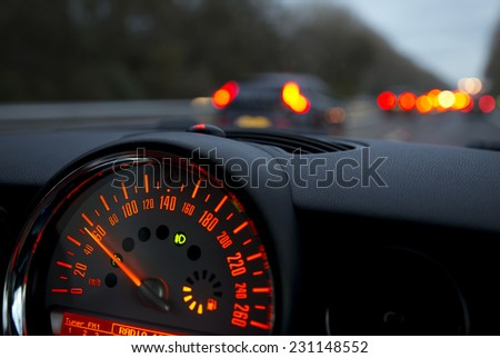 Speedometer in a Car