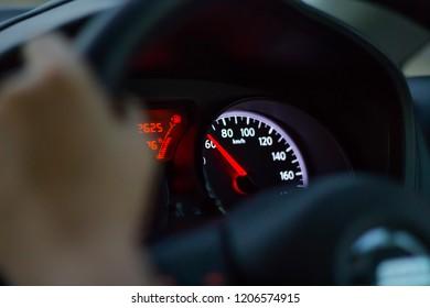 Speedometer Caught in the car.