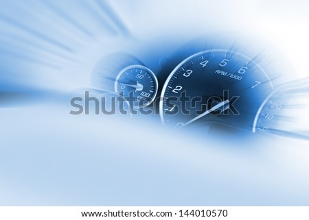 Speedometer Dash Transportation Theme Stock Photo (Edit Now