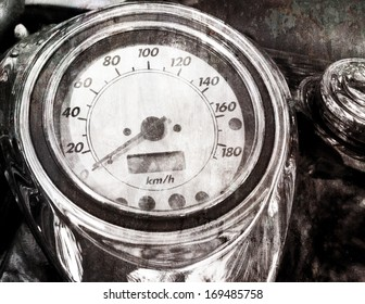speedometer Grunge vintage abstract rusty