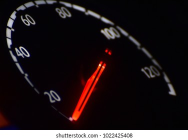 Speedometer isolated object of a bus stock photograph