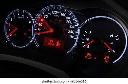 Speedometer in movement