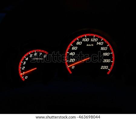 Speedometer Rpm Gauge Symbol Car Night Stock Photo Edit Now