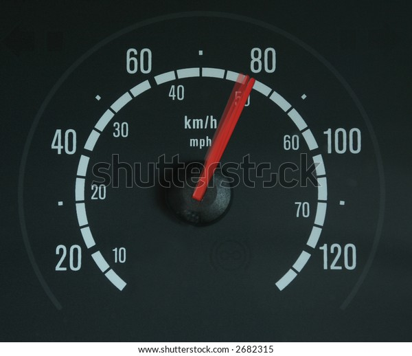 a speedometer showing movement