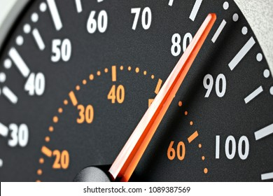 speedometer of a truck at cruising speed of 85 km/h