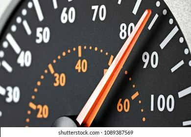speedometer of a truck at cruising speed of 85 km/h