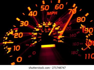 Speedometer zoomed in