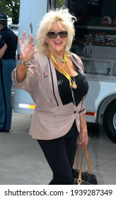 Speedway, IN, USA - May 29, 2011:  Miss Hurst Golden Shifter, Linda Vaughn, attends the 2011 Indy 500 at Indianapolis Motor Speedway.