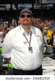 Speedway, IN, USA - May 29, 2016:  IndyCar Jonathan Byrd awaits the start of the 2016 Indy 500 at Indianapolis Motor Speedway.