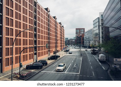 Speicherstadt (City of Warehouse) in cloudy day, Hamburg, Germany, 26th April 2018
