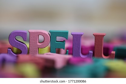 Spell - words standing out amongst other letters.