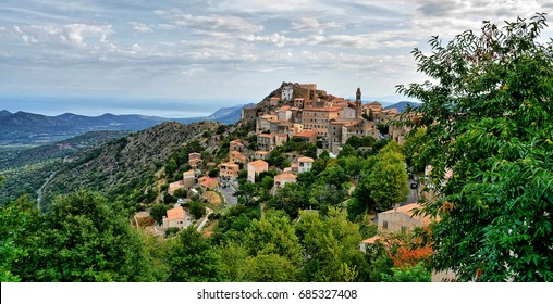 Speloncato in Corsica, a medieval village and one of the 100 most beautiful villages in France