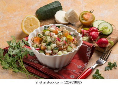 spelt salad with mixed vegetables