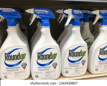 Spencer, IA - April 8, 2019: Roundup sitting on a counter.