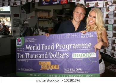 """Spencer Pratt and Heidi Montag  at """"Reality Check Challenge' to Promote Taco Bell's partnership with The World Food Programme. Taco Bell, Los Angeles, CA. 10-02-08"""