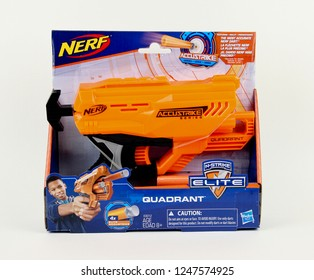 Spencer, Wisconsin, December, 3,  2018  Nerf Quadrant toy gun  Nerf is toy brand currently owned by Hasbro