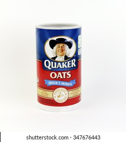 SPENCER , WISCONSIN, December, 6, 2015    Box of Quaker Oats Oatmeal Cereal  Quaker Oats is an American food company founded in 1901